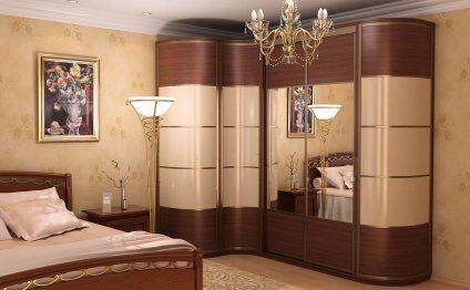 Дизайн спальни с угловым