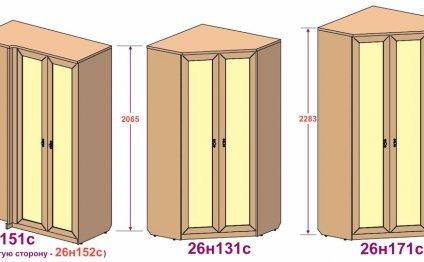 Спальни с угловыми шкафами