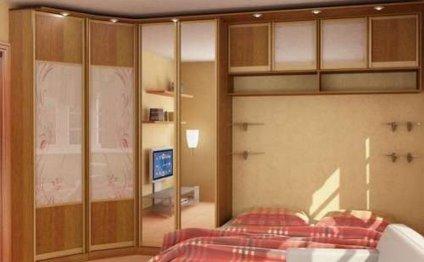 Дизайн спальни со шкафом купе