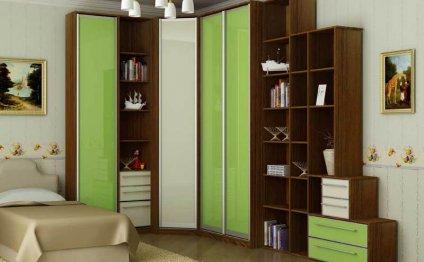 Шкаф в детскую комнату угловой